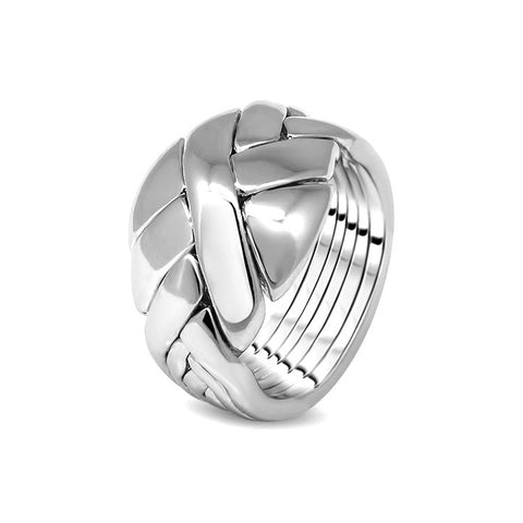 Silver Puzzle Ring 6DO-U
