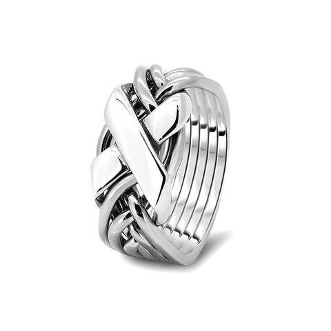 Silver Puzzle Ring 6FX-L