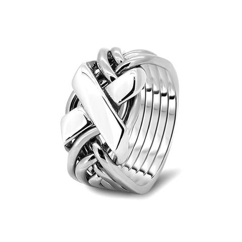 Silver Puzzle Ring 6FX-M
