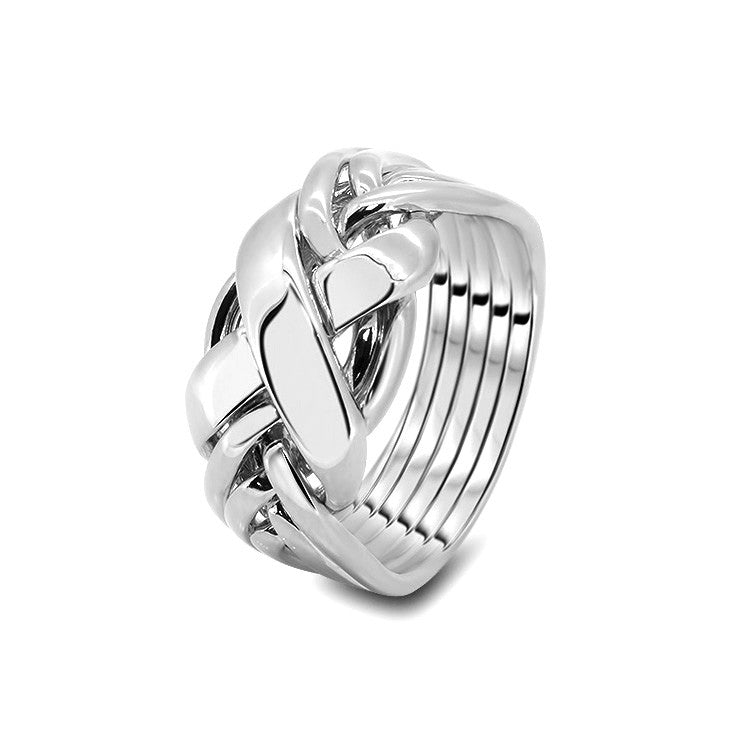 Silver Puzzle Ring 6RX-L