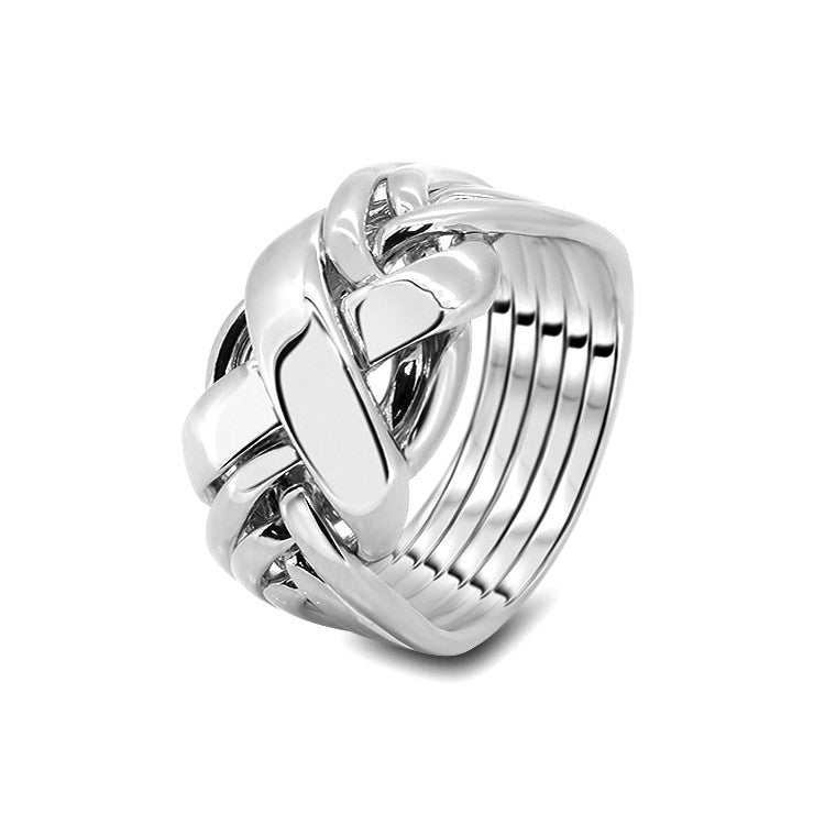 Silver Puzzle Ring 6RX-M