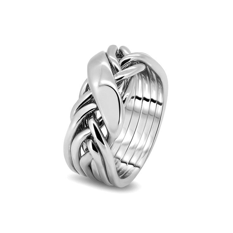 Silver Puzzle Ring 6WRD-L