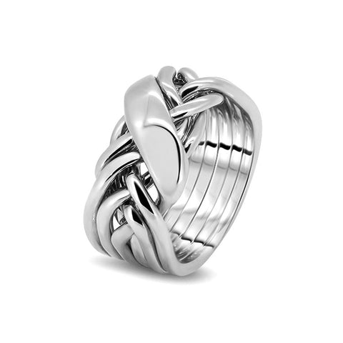 Silver Puzzle Ring 6WRD-M
