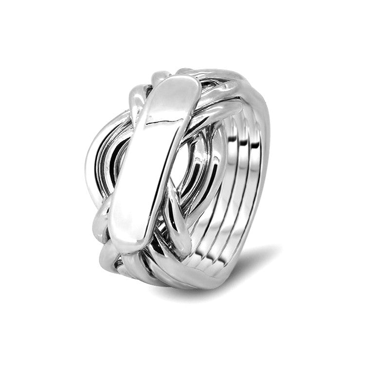 Silver Puzzle Ring 7AH-M