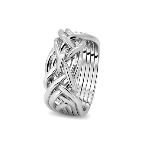 Silver Puzzle Ring 7D-L