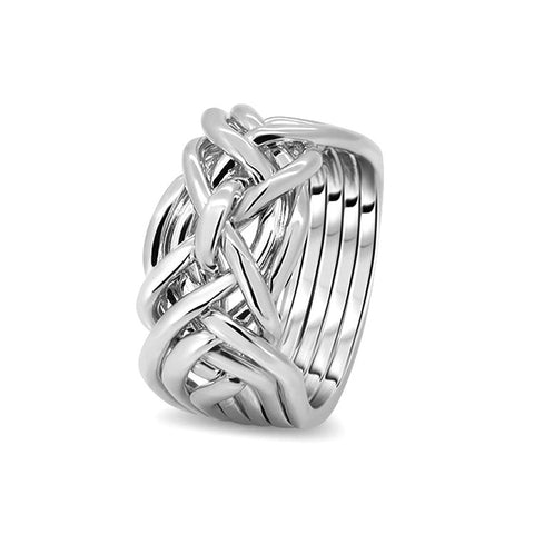 Silver Puzzle Ring 7D-M