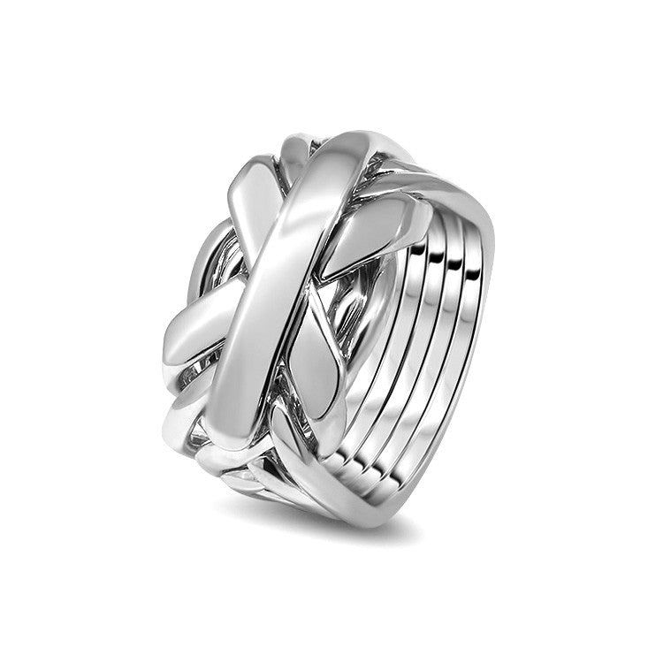 Silver Puzzle Ring 7JG-M