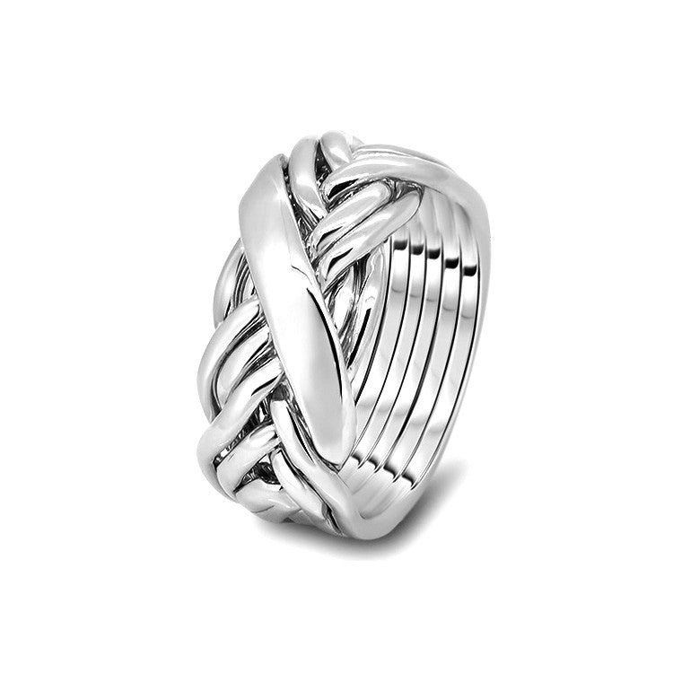 Silver Puzzle Ring 7WRD-L