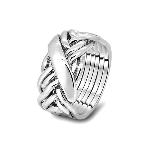 Silver Puzzle Ring 7WRD-M