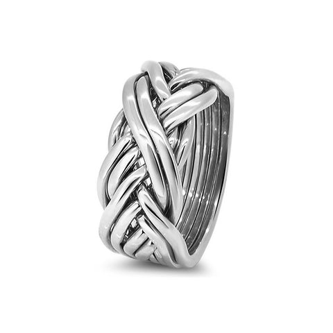 Silver Puzzle Ring 8CW-L