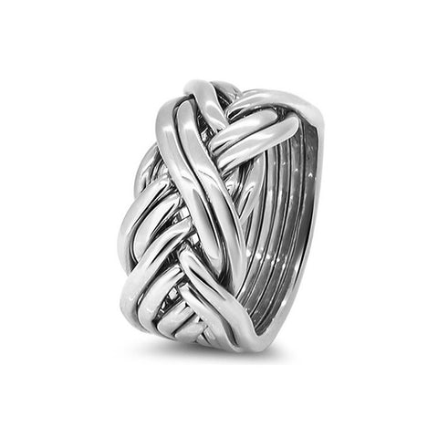 Silver Puzzle Ring 8CW-M
