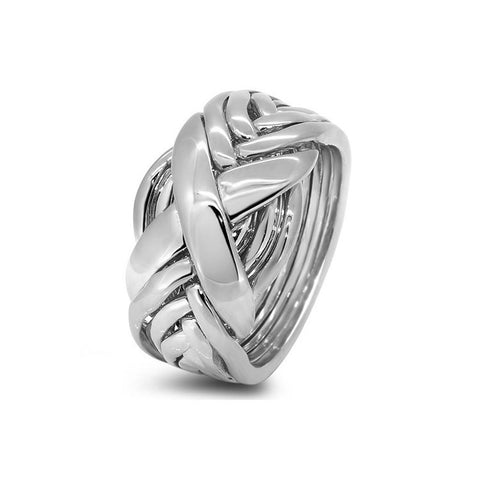 Silver Puzzle Ring 8RX-L