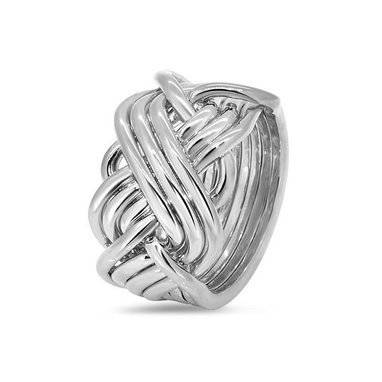 Silver Puzzle Ring 8T3-M