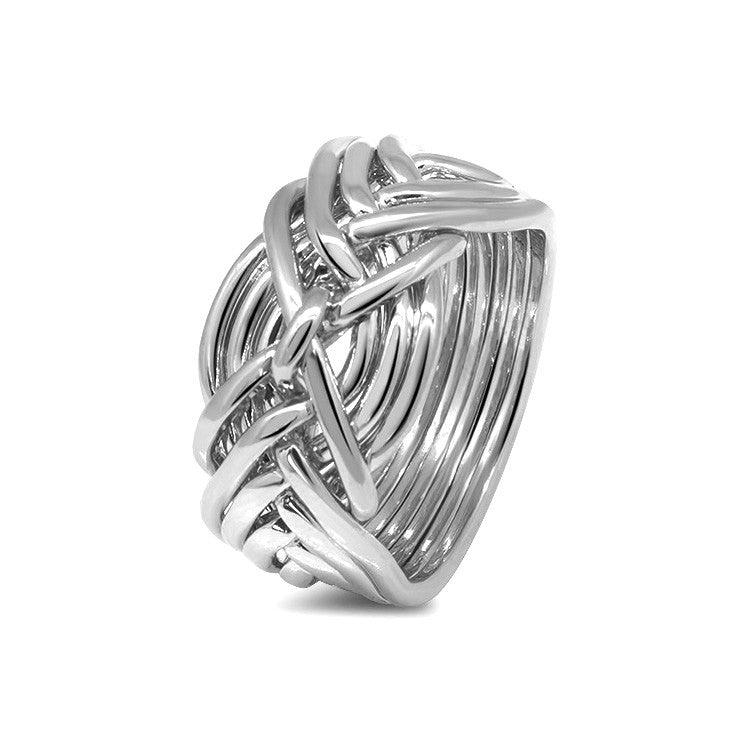 Silver Puzzle Ring 9D-L