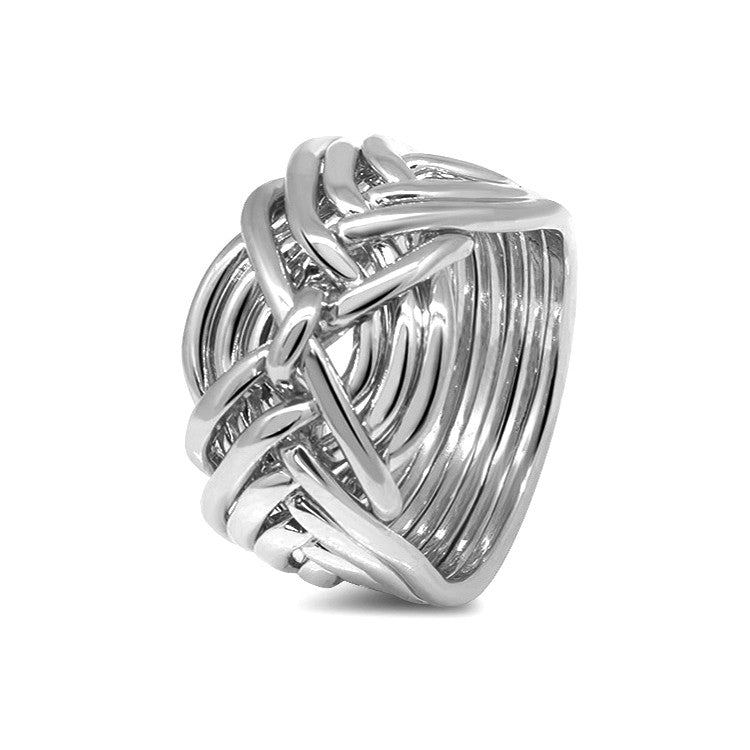Silver Puzzle Ring 9D-M