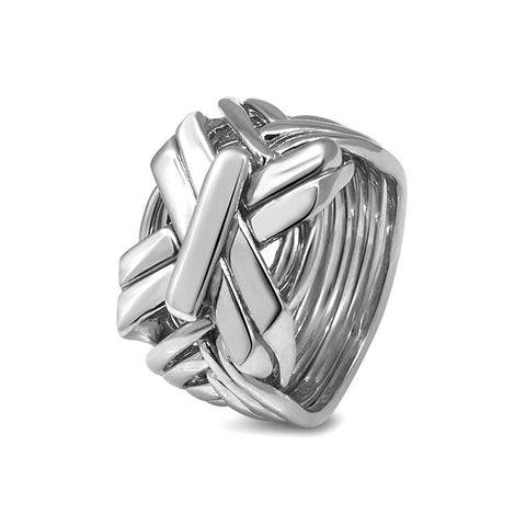 Silver Puzzle Ring 9SB1-M