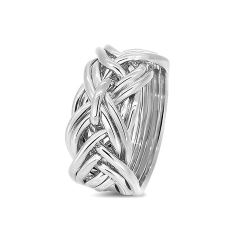 Silver Puzzle Ring 9WD-L