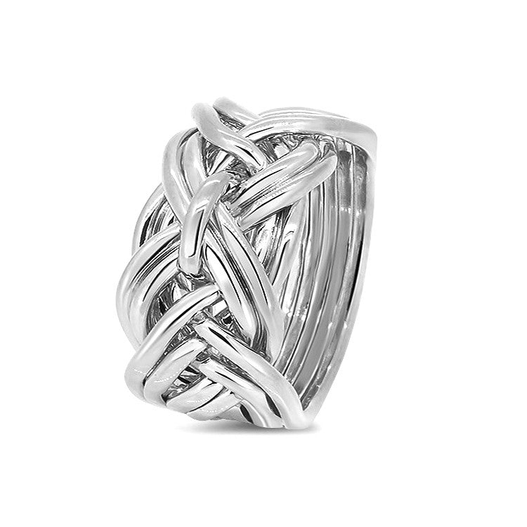 Silver Puzzle Ring 9WD-M
