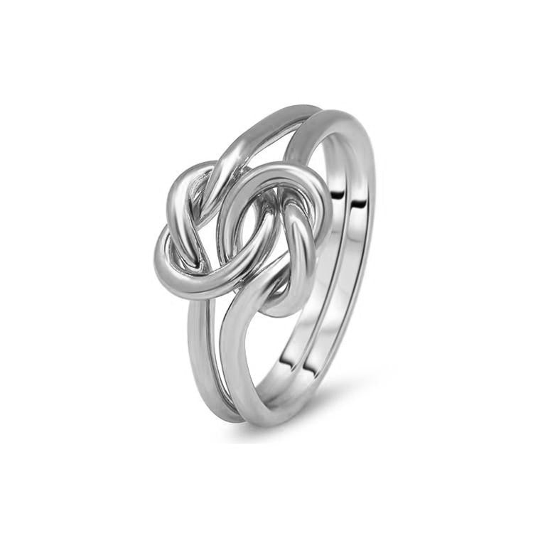 Womens Double Knot Puzzle Ring 2K1-L