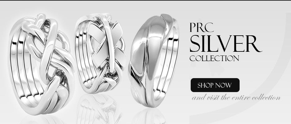 Silver Puzzle Rings Collection