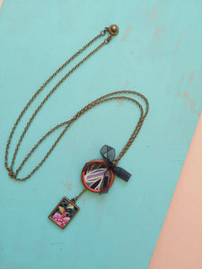 Bronze Base Necklace in geometric design
