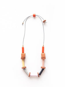Raíces Necklace Nativa collection in orange