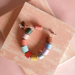 Tuquitos leather bracelet in many colors, adjustable
