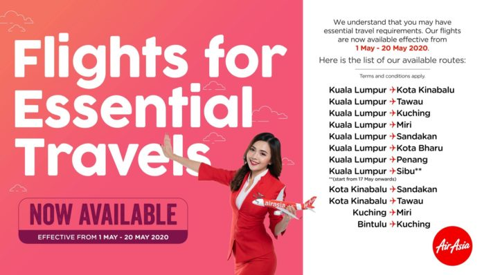 AirAsia Resumed Its Domestic Schedule Service On Selected Routes