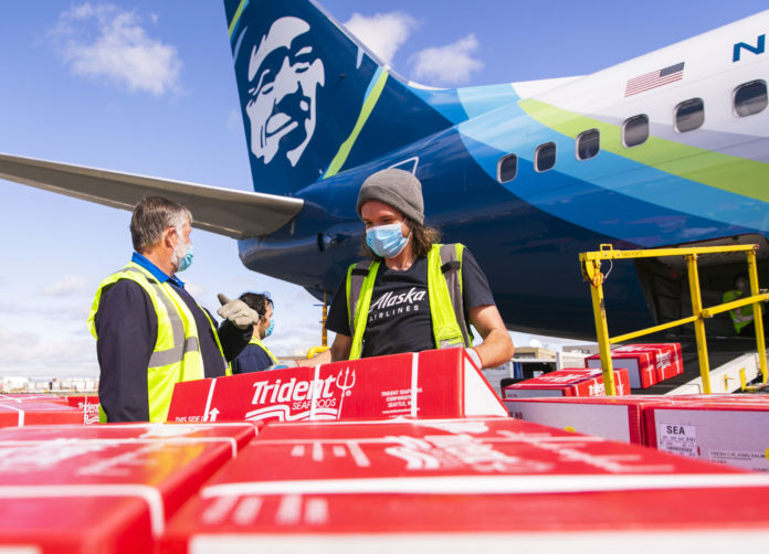 Alaska Airlines And Partners Serves Up Copper River Salmon To First Responders