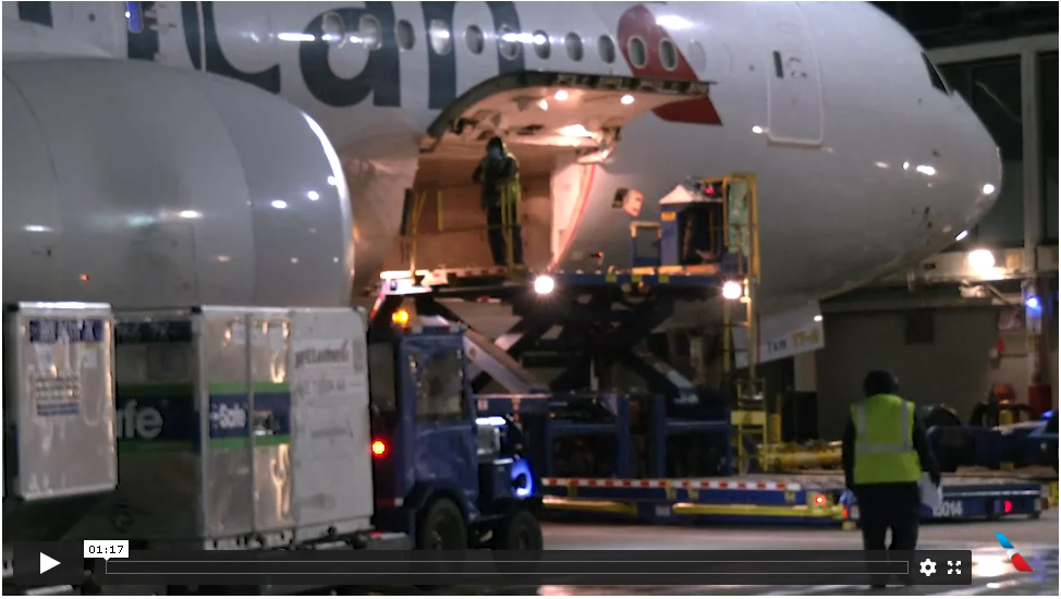 American Airlines Cargo Transports Its First COVID-19 Vaccine Shipment Last Night