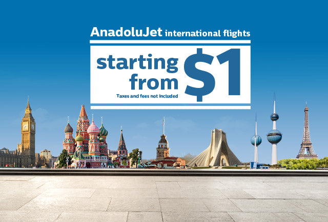Turkish Airlines AnadoluJet Offering Deals Starting At $1 USD*