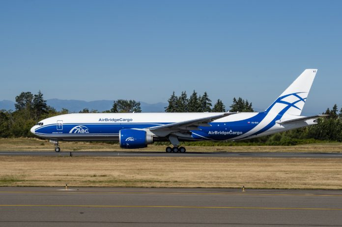Boeing 777 Freighter Heading For The Volga-Dnepr Group