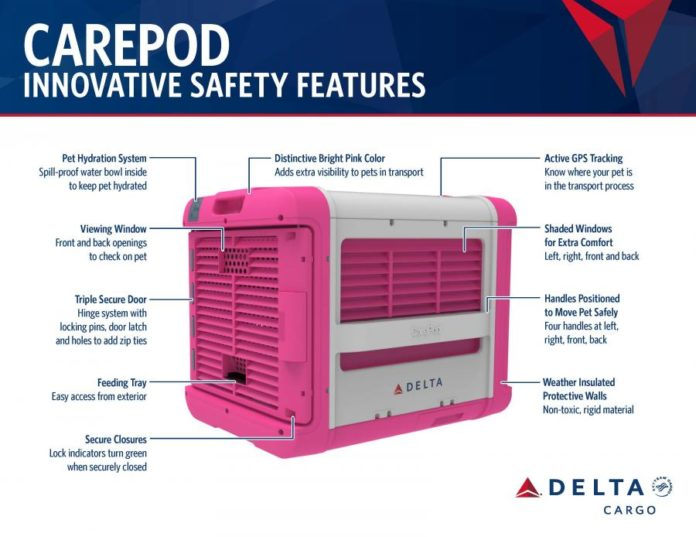 Delta Airlines Launches CarePod Solution For Safe Pet Air Travel