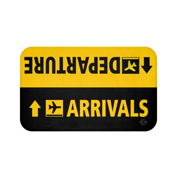 Arrivals - Departure Aviation Bathroom Mat