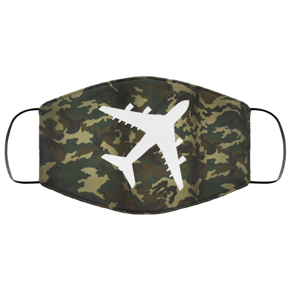 Quad Engine Camo 3 Layers Reusable Cloth Face Mask