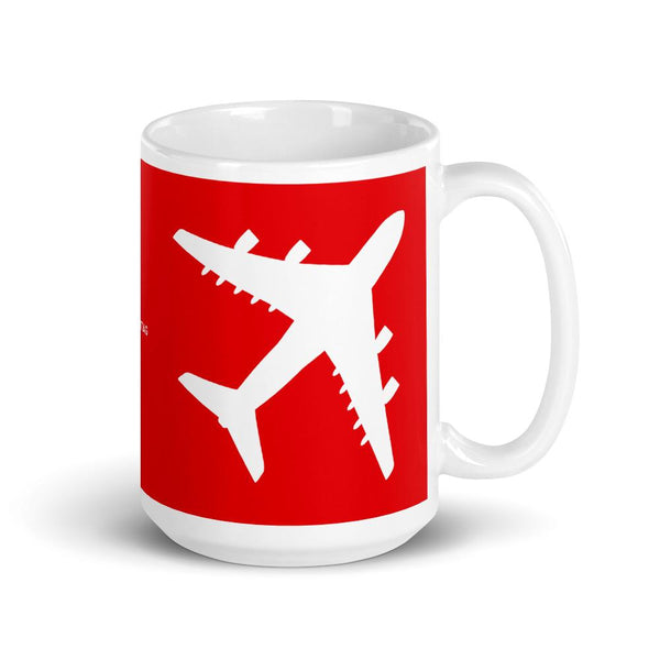Aviation And Pilot Themed Coffee Mug - Quad Engine Airplane Coffee Mug-Flightag
