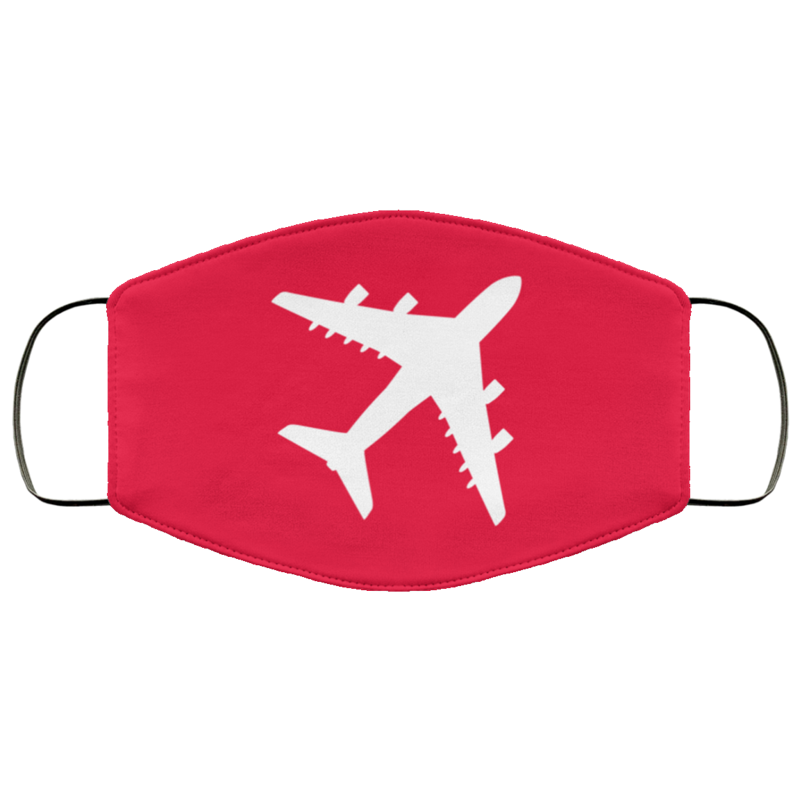 Aviation Themed Washable Face Mask Reusable - Quad Engine Red-Accessories-Flightag