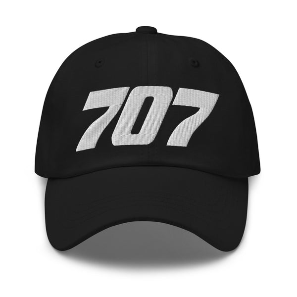 707 Aviation Embroidered Classic Cap black