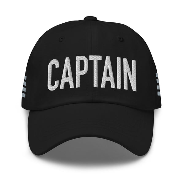 Captain 4 Silver Stripes Classic Embroidered Cap black