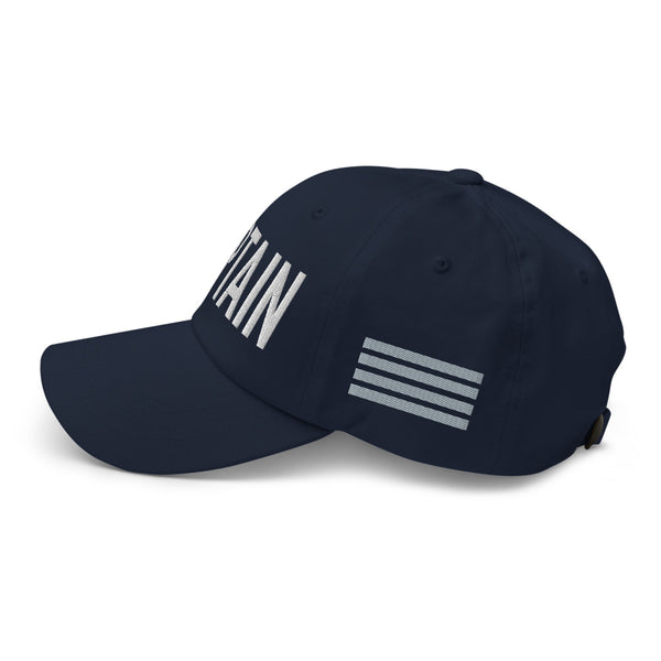 Captain 4 Silver Stripes Classic Embroidered Cap navy