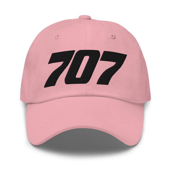 707 Aviation Embroidered Classic Cap pink