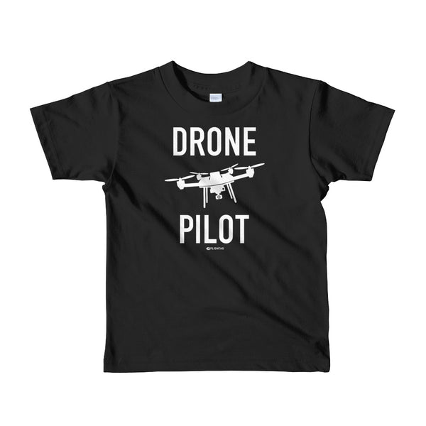 Drone Pilot - Kids T-Shirt black Travel Design T Shirt And Printed Hoodies Vacation Sweatshirt One Gift Airportag Iconspeak Aviation Shop Travlshop Wanderlust PilotMall JetSeam Aviator Gear Travel Notes Wild Blue