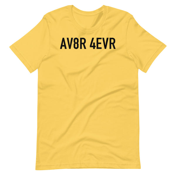 AV8R Taxiway Sign T-Shirt yellow