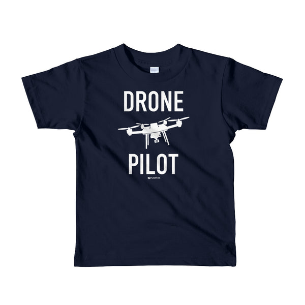 Drone Pilot - Kids T-Shirt navy Travel Design T Shirt And Printed Hoodies Vacation Sweatshirt One Gift Airportag Iconspeak Aviation Shop Travlshop Wanderlust PilotMall JetSeam Aviator Gear Travel Notes Wild Blue