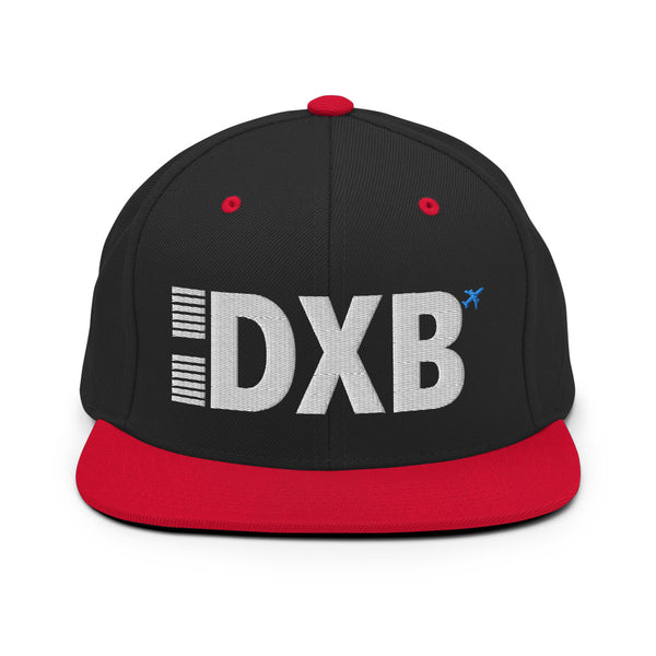 DXB Airport Code Embroidered Snapback Cap