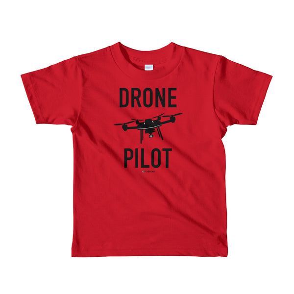 Drone Pilot - Kids T-Shirt red Travel Design T Shirt And Printed Hoodies Vacation Sweatshirt One Gift Airportag Iconspeak Aviation Shop Travlshop Wanderlust PilotMall JetSeam Aviator Gear Travel Notes Wild Blue
