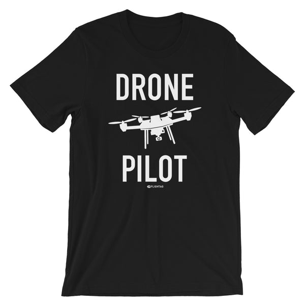 Drone Pilot Men's T-Shirt black Travel Design T Shirt And Printed Hoodies Vacation Sweatshirt One Gift Airportag Iconspeak Aviation Shop Travlshop Wanderlust PilotMall JetSeam Aviator Gear Travel Notes Wild Blue