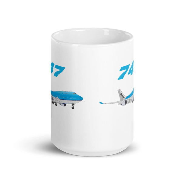 747 Blue Airplane Netherlands Aviation And Pilot Edition Coffee Mug