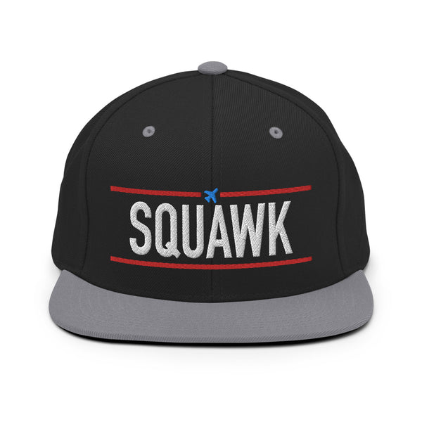Squawk Snapback Embroidered Cap