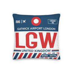LGW - Gatwick Airport London United Kingdom Decorative Throw Pillow